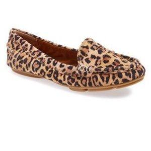 "lucky brand "" feverton""  leopard print  shoes 8.5"